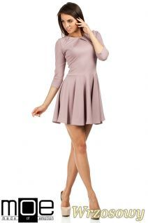 Rozkloszowana sukienka mini marki MOE.  #cudmoda.pl #moe #moda #ubrania #clothes