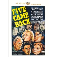 "Five Came Back (Mod) from Warner Bros.: ""Panama City-bound clipper Silver Queen has a full passenger load - and… #Movies #Films #DVD Video"