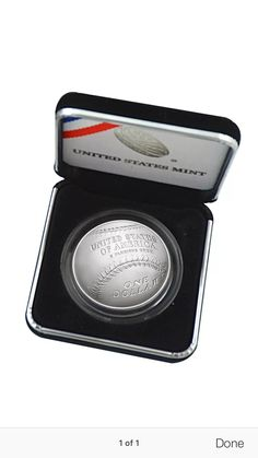 Coin Collector 2014 Baseball Hall of Fame Anniversary Commemorative Proof Silver Dollar Coin Silver Dollar Coin, Coin Collecting, Anniversary, Baseball, Products, Baseball Promposals, Beauty Products