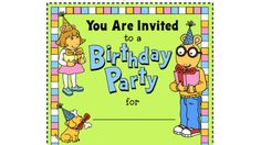 Printables . Arthur Birthday Party Invitation. PBS Parents | PBS