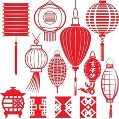 Chinese Lantern Collection Stockfoto - 13453568