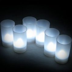 Daffodil LEC006W  6 White LED Tealights  Flameless Candles with Holders -- Want to know more, click on the image.