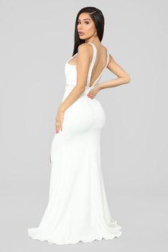 A Magical Feeling Mermaid Gown - White Sexy Dresses, Evening Dresses, Formal Dresses, Trendy Outfits, Fashion Outfits, Womens Fashion, Fashion Pants, Fairy Wedding Dress, Wedding Dresses