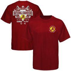 Alabama Crimson Tide 2012 NCAA Women's Softball College World Series Champions Diamond Banner Score T-Shirt - Crimson $18.95