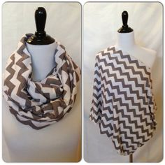 Infinity Scarf/Breastfeeding cover Gray by DimpleCheekBoutique