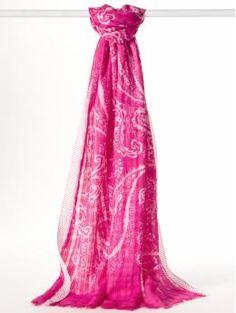 Fuchsia scarf.