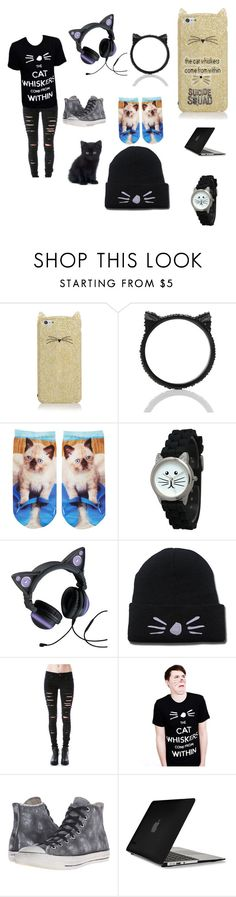 """""""Cats"""" by insaneredpandagirl ❤ liked on Polyvore featuring Kate Spade, Free Press, Olivia Pratt, Tripp, Converse, Speck and internationalcatday"""