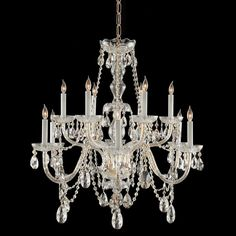 Louis xvi 12 light crystal chandelier chandeliers iron and lights crystorama lighting group 1135 cl mwp traditional crystal 12 light 31 wide 2 aloadofball Images