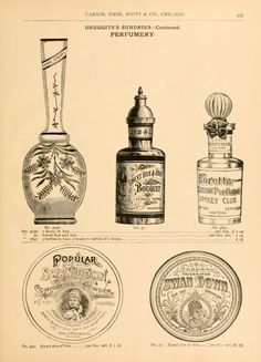 Illustrated catalogue of staple and fancy notions  - vintage perfume ad