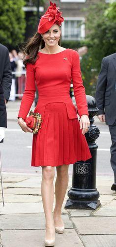 Queen's Diamond Jubilee River Pageant Alexander McQueen Dress and Sylvia Fletcher Hat