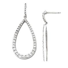 Sterling Silver Synthetic Cz Teardrop Dangle Post Earrings. We encourage you to read the product description below in full before you place your order. So that you do not receive a product that you did not expect, especially width/length if available. We offer 30 Days Hassle Free Returns!. Goldia is one of the top performing Jewelry/Gift Category Vendors in Amazon Prime.