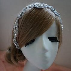 FLOW ZIG Women's Rhinestone Headpiece - Wedding/Special Occasion Headbands >>> To view further for this item, visit the image link. (This is an affiliate link) #JewelryDesign
