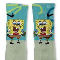 Spongebob Fast Shipping Nike Elite Socks Customized by FreshElites, $26.00