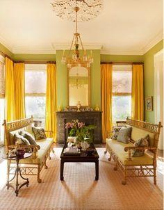 sadie + stella: Monday Musings: Yellow Curtains