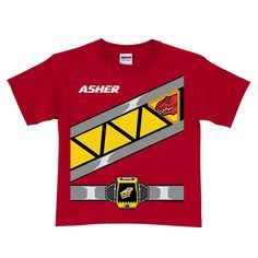 Power Rangers Dino Charge Red Ranger T-shirt | Ty's Toy Box