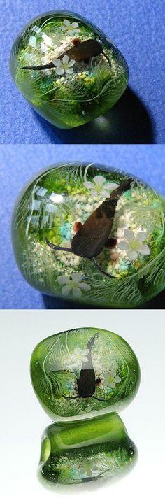 海洋生態研究員出身のガラス作家  増永元 (Gen Masunaga)  生物の自然な姿を最大限忠実にガラスで再現して 生命感と彼らが生きる美しい環境まで感じられる作品の創作を目標としている。
