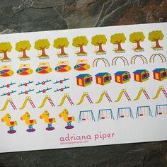 Playground Kids Collection for Erin Condren Life Planner, Plum Paper Planner, Filofax, Kikki K, Calendar or Scrapbook by adrianapiper on Etsy