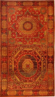 Double-field Mamluk carpet, 16th c.