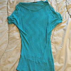 Teal sweater Cute teal blue thin knit sweater. Maurice's brand. Need to wear a camisole under. Worn a few times. Maurices Sweaters Crew & Scoop Necks