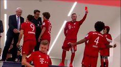 Franck Ribery red-carding Dante  - FC Bayern Munich Meisterfeier