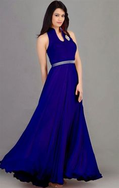 Picture of Scintillating Blue Color Glorious Gown