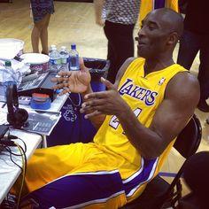 Kobe Bryant at Lakers Media day (2012)