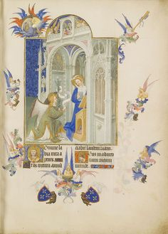 Folio 26R - Annunciation.jpg-Très Riches Heures du Duc de Berry