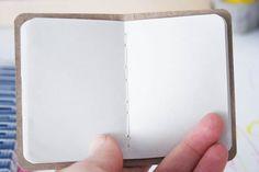 Bloco de notas artesanal passo a passo