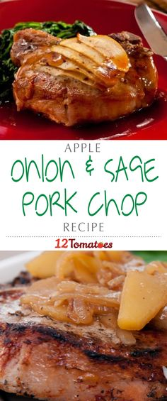 Apple, Onion & Sage Pork Chops | It's a tangy, meaty main course that masters that perfect balance of sweet and savory.