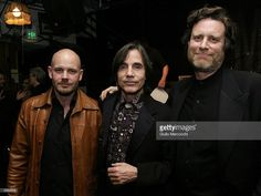 Jackson Browne (C) Chairman and CEO of Artemis Records, Danny Goldberg (R) and Jordan Zevon attend the Artemis Records post-Grammy party on February 8, 2004 in Santa Monica, California.