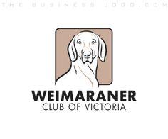 Logo Design Services, Custom Logo Design, Company Logo Samples, Business Logo Design, Weimaraner, Animal Logo, Pet Care, Branding, Pets