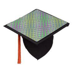 Graduation Cap in a colorful zigzag pattern #zazzle #graduation #grads