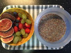 All- bran flakes / chai / lijnzaad magere melk / fruit breakfast