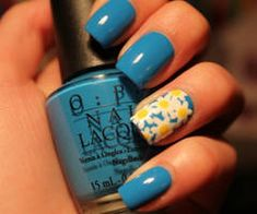Sometimes all that's needed is a single accent nail