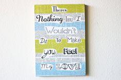 Music Lyric Art Original Make You Feel My Love by TrashyCrafter, $35.00