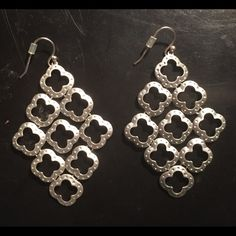 Stella & Dot Silver Chandelier Earrings. EUC.  Worn once.  Smoke free home.  Bundle with another piece of jewelry listed & get 20% off!! Stella & Dot Jewelry Earrings
