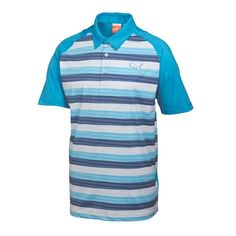 Puma Golf GT Glitch Stripe Polo Hawaiian Ocean