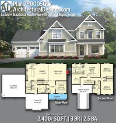 Architectural Designs Exclusive House Plan 790005GLV gives you 3 beds, 2.5 baths and over 2,400 sq. ft. of heated living space. Ready when you are. Where do YOU want to build? #790005GLV #adhouseplans #architecturaldesigns #houseplan #architecture #newhome #newconstruction #newhouse #homedesign #dreamhome #dreamhouse #homeplan #architecture #architect #craftsman