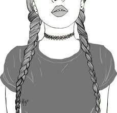 Dibujo de Chica Tumblr!!! ✌✌