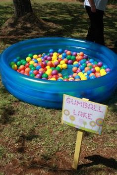 Candy Land Gumball lake - ball pit for the little ones ** candyland theme** Birthday Party Games, First Birthday Parties, First Birthdays, Party Fun, Birthday Ideas, Candy Land Birthday Party Ideas, 3rd Birthday, Turtle Birthday, Turtle Party