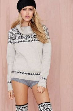 Knitz by For Love and Lemons Snowed In Sweater