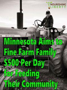Minnesota Aims to Fine Berglund Farm Family $500 Per Day for Feeding Their Community