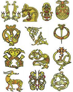viking embroidery patterns - Google zoeken