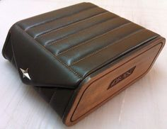 This is special design leather box   ..All parts are only leather and stout leather..No wood.