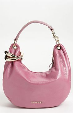 Jimmy Choo 'Solar - Small' Pearlized Metallic Leather Hobo