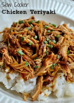 Slow-Cooker-Chicken-Teriyaki2; slight variation to make it healthier (liquid aminos instead?)