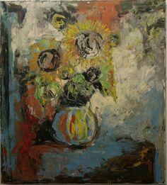 Sunflowers , acryl on canvas, 100x100