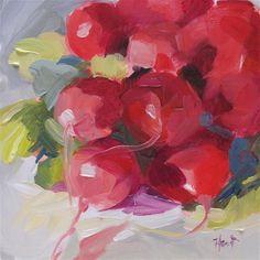 "Daily+Paintworks+-+""Rockin+Radishes""+-+Original+Fine+Art+for+Sale+-+©+Linda+Hunt"