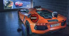 Lamborghini Aventador Turned Into The World's Most Expensive Racing SIM #Games #Lamborghini