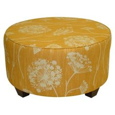 Queen Anne's Lace Round Ottoman - Butterscotch (apparently I really like yellow furniture) Round Ottoman, Tufted Ottoman, Ottoman Bench, Ottoman Inspiration, Interior Inspiration, Living Room Bench, Yellow Interior, Queen Annes Lace, Amazing Spaces